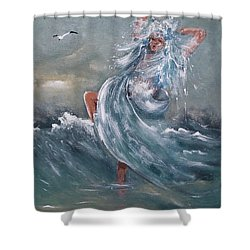 Wave Within Shower Curtain