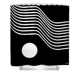 Waved Abstract Shower Curtain