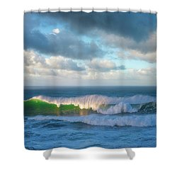Shower Curtain featuring the photograph Wave Length by Darren White