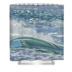 Waverider Shower Curtain by Patti Bruce - Printscapes