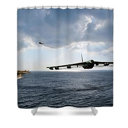 Waverunner Shower Curtain by Peter Chilelli