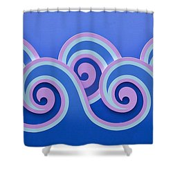 Shower Curtain featuring the photograph Waves by Art Block Collections