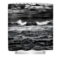Waves At Dawn Shower Curtain