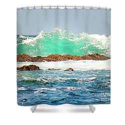 Waves At Pacific Grove California Shower Curtain