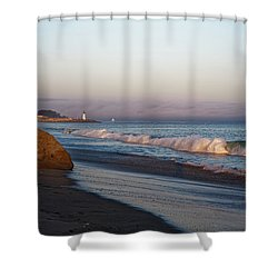 Waves At Santa Cruz Shower Curtain