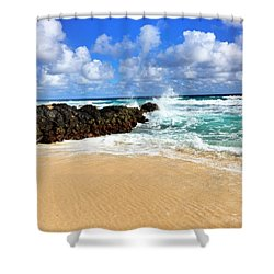 Shower Curtain featuring the photograph Waves Crashing by Todd Aaron