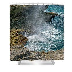 Waves Crushing On The Shore Shower Curtain