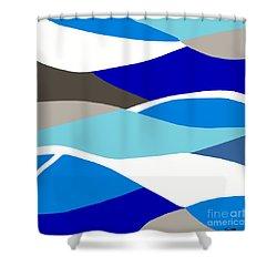 Waves Shower Curtain by Eloise Schneider