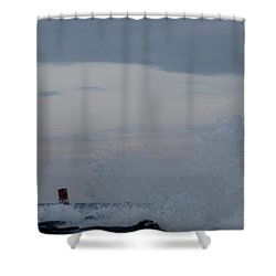 Shower Curtain featuring the photograph Waves High by Robert Banach