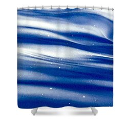 Waves Of Diamonds Shower Curtain