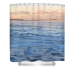 Waves Of Ice Shower Curtain