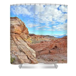 Waves Of Sandstone In Valley Of Fire Shower Curtain
