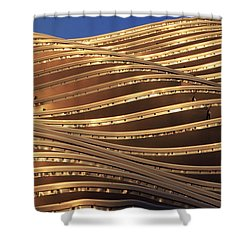 Waves Of Steel Shower Curtain