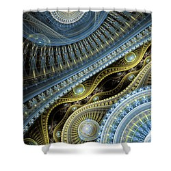 Waves Of Time 2 Shower Curtain