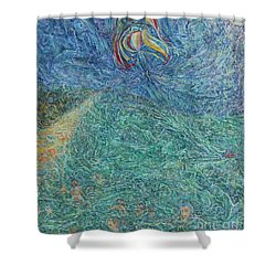 Waves On The Azov Sea Shower Curtain