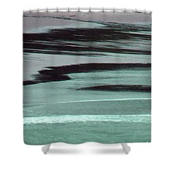 Waves On The Beach Shower Curtain by Methune Hively