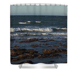 Waves Rolling Ashore Shower Curtain