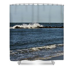 Shower Curtain featuring the photograph Waves by Sandy Keeton