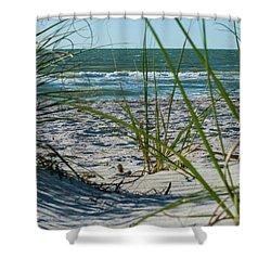 Waves Through The Grass Shower Curtain