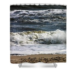 Waves, Waves, Waves Shower Curtain