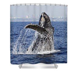 Waving  Shower Curtain