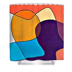 Wavy Hair Shower Curtain by Shelley Graham Turner