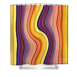 Wavy Stripes 1 Shower Curtain