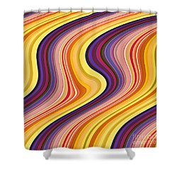 Wavy Stripes 2 Shower Curtain