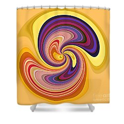 Wavy Stripes Figure 1 Shower Curtain