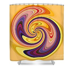 Wavy Stripes Figure 3 Shower Curtain