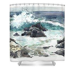 Wawaloli Beach, Hawaii Shower Curtain