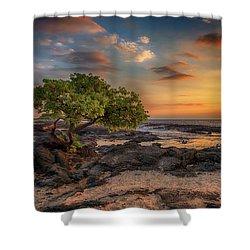 Wawaloli Beach Sunset Shower Curtain