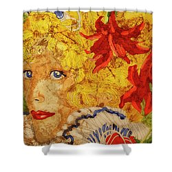 Wax On Wax Off Shower Curtain by Cynthia Powell
