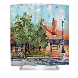 Waxachie Train Station Shower Curtain