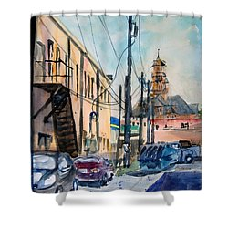 Waxahachie Back Alley Shower Curtain