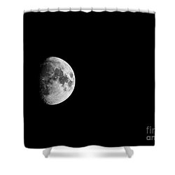 Waxing Gibbous - 2 Shower Curtain