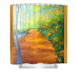 Way In The Forest Shower Curtain