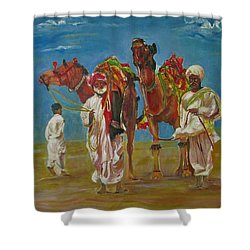 Way Of Life Shower Curtain by Khalid Saeed