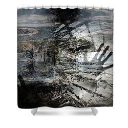 Shower Curtain featuring the photograph Way Out  by Danica Radman