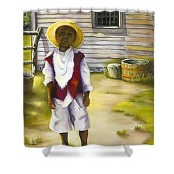 Shower Curtain featuring the painting Way Out Of No Way by Marlene Book