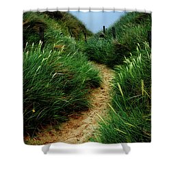 Way Through The Dunes Shower Curtain by Hannes Cmarits