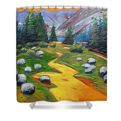 Way To The Lake Shower Curtain