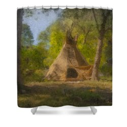 Wayne And Karen's Teepee Shower Curtain