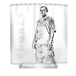 Wayne Rooney Shower Curtain by ISAW Gallery