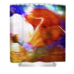 Wayne Shorter   Digital Watercolor Paintings Shower Curtain