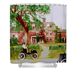Wayside Inn With Autos Shower Curtain