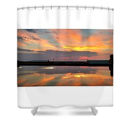 #wbw #sunset #photooftheday #atardecer Shower Curtain