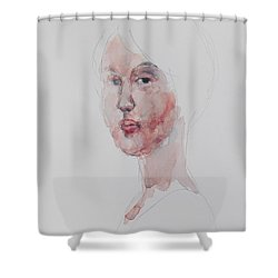 Wc Mini Portrait 1             Shower Curtain by Becky Kim