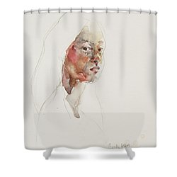 Wc Mini Portrait 3             Shower Curtain by Becky Kim
