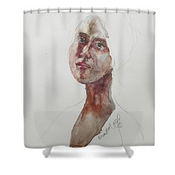 Wc Mini Portrait 7             Shower Curtain by Becky Kim